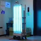 施設をウイルスから守る殺菌ロボット