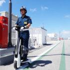 業務の効率を高め警備員の負担を軽くするセコムの歩行領域EV警備