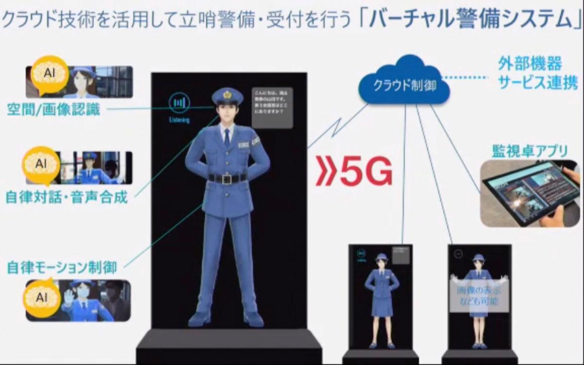 今秋から市場提供される予定の「バーチャル警備システム」